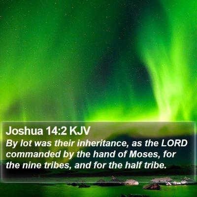 Joshua 14:2 KJV Bible Verse Image