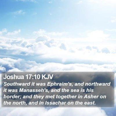 Joshua 17:10 KJV Bible Verse Image