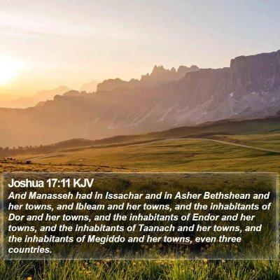 Joshua 17:11 KJV Bible Verse Image