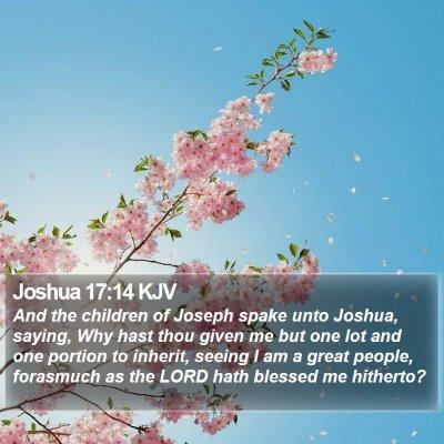 Joshua 17:14 KJV Bible Verse Image