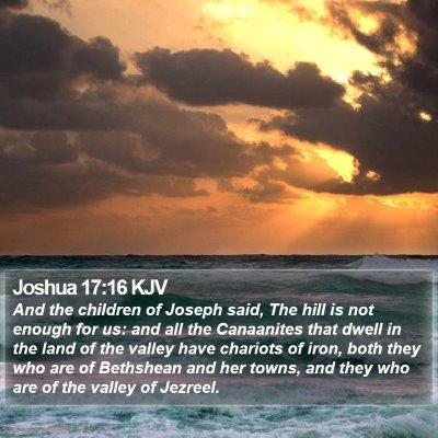 Joshua 17:16 KJV Bible Verse Image