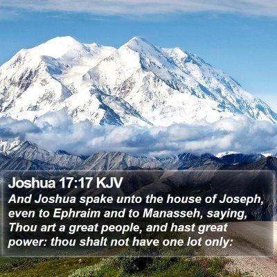 Joshua 17:17 KJV Bible Verse Image