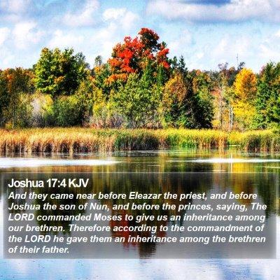 Joshua 17:4 KJV Bible Verse Image