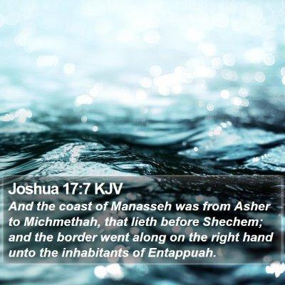 Joshua 17:7 KJV Bible Verse Image