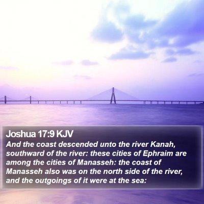 Joshua 17:9 KJV Bible Verse Image