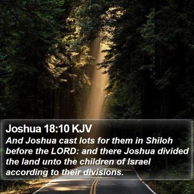 Joshua 18:10 KJV Bible Verse Image