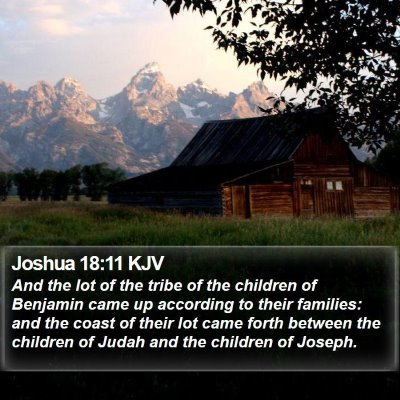 Joshua 18:11 KJV Bible Verse Image