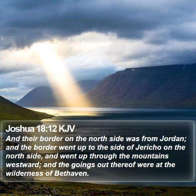 Joshua 18:12 KJV Bible Verse Image