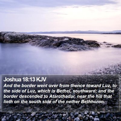 Joshua 18:13 KJV Bible Verse Image