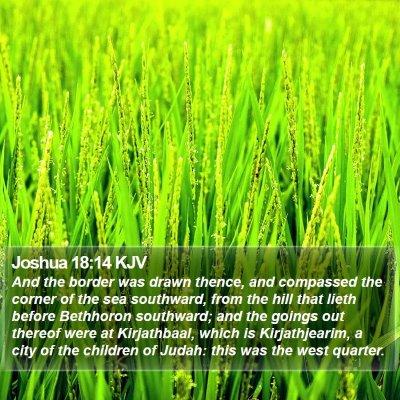 Joshua 18:14 KJV Bible Verse Image