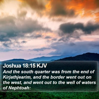 Joshua 18:15 KJV Bible Verse Image