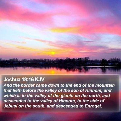 Joshua 18:16 KJV Bible Verse Image