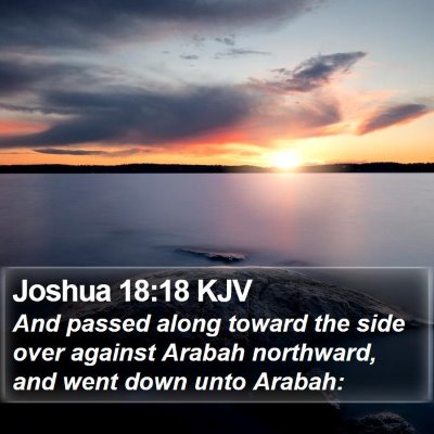 Joshua 18:18 KJV Bible Verse Image