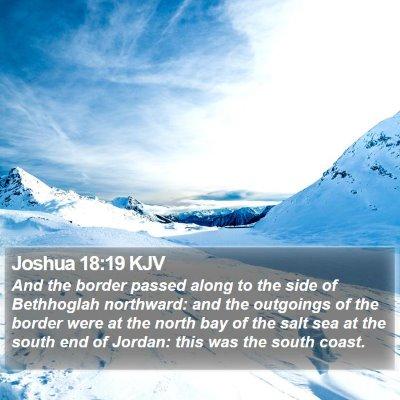 Joshua 18:19 KJV Bible Verse Image