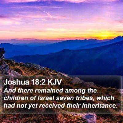 Joshua 18:2 KJV Bible Verse Image