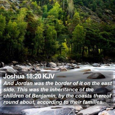 Joshua 18:20 KJV Bible Verse Image