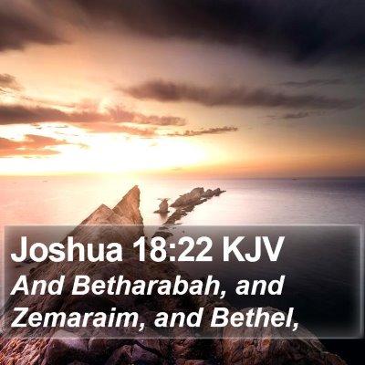 Joshua 18:22 KJV Bible Verse Image