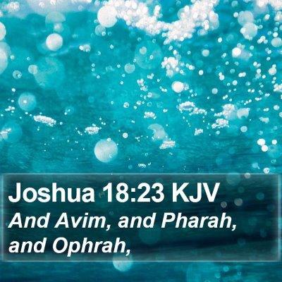Joshua 18:23 KJV Bible Verse Image