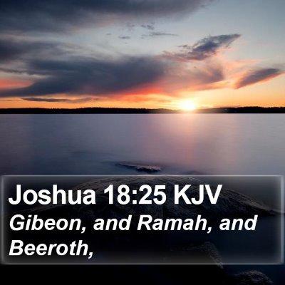 Joshua 18:25 KJV Bible Verse Image