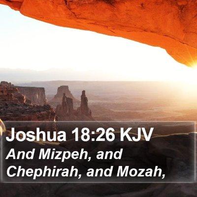 Joshua 18:26 KJV Bible Verse Image