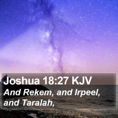Joshua 18:27 KJV Bible Verse Image