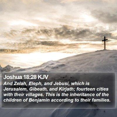 Joshua 18:28 KJV Bible Verse Image