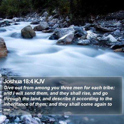 Joshua 18:4 KJV Bible Verse Image