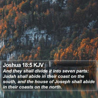 Joshua 18:5 KJV Bible Verse Image