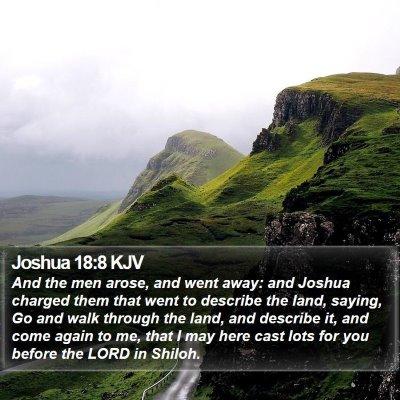 Joshua 18:8 KJV Bible Verse Image