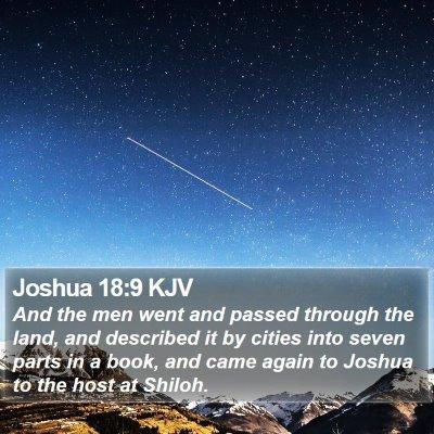 Joshua 18:9 KJV Bible Verse Image