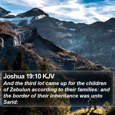 Joshua 19:10 KJV Bible Verse Image