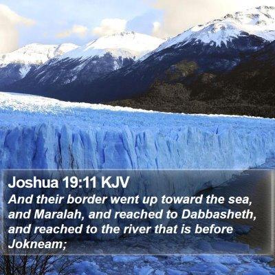Joshua 19:11 KJV Bible Verse Image
