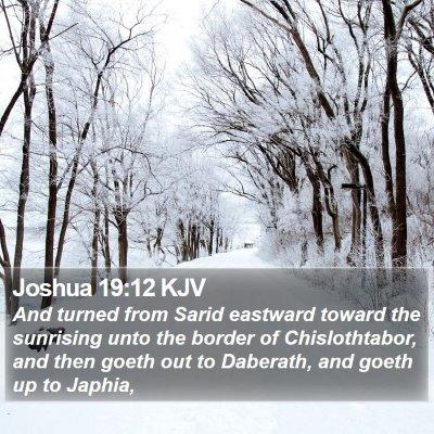 Joshua 19:12 KJV Bible Verse Image