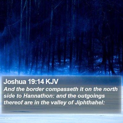 Joshua 19:14 KJV Bible Verse Image