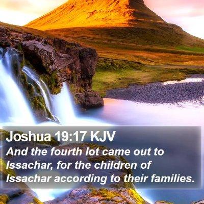 Joshua 19:17 KJV Bible Verse Image