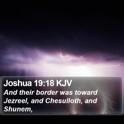 Joshua 19:18 KJV Bible Verse Image