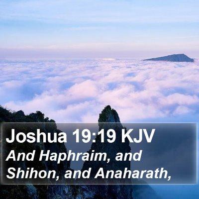 Joshua 19:19 KJV Bible Verse Image