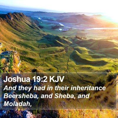 Joshua 19:2 KJV Bible Verse Image