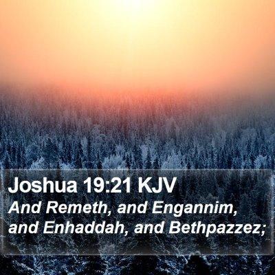 Joshua 19:21 KJV Bible Verse Image