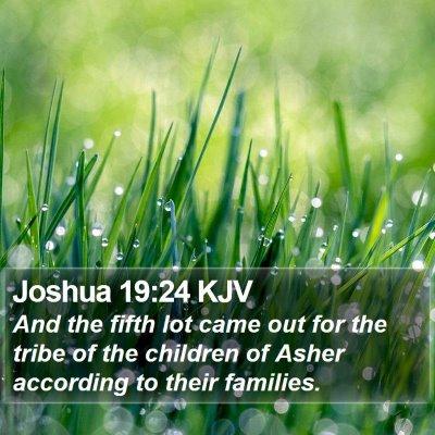 Joshua 19:24 KJV Bible Verse Image