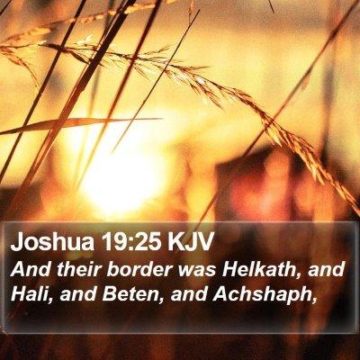 Joshua 19:25 KJV Bible Verse Image