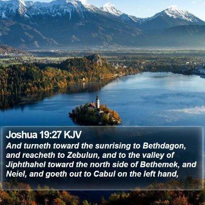 Joshua 19:27 KJV Bible Verse Image