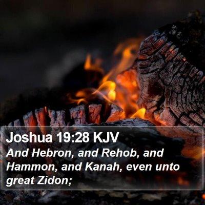 Joshua 19:28 KJV Bible Verse Image