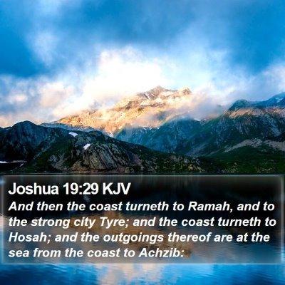 Joshua 19:29 KJV Bible Verse Image