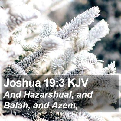 Joshua 19:3 KJV Bible Verse Image