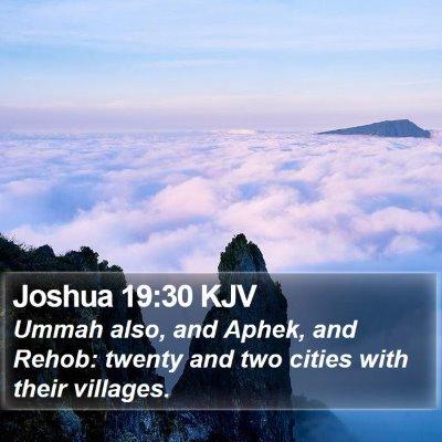 Joshua 19:30 KJV Bible Verse Image