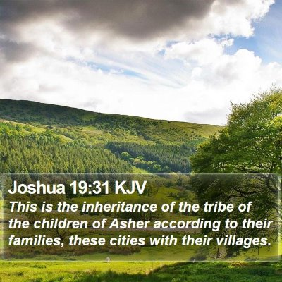 Joshua 19:31 KJV Bible Verse Image