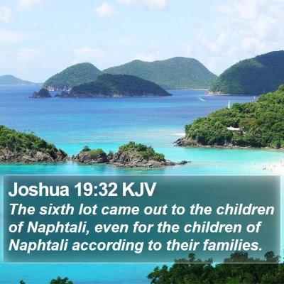 Joshua 19:32 KJV Bible Verse Image