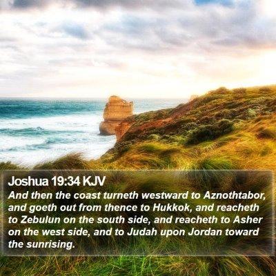 Joshua 19:34 KJV Bible Verse Image