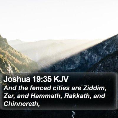 Joshua 19:35 KJV Bible Verse Image